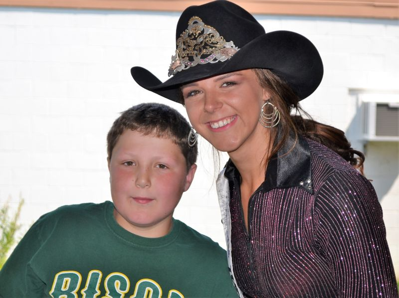 Miss Rodeo North Dakota Hope Ebel meet and greet at City Hall